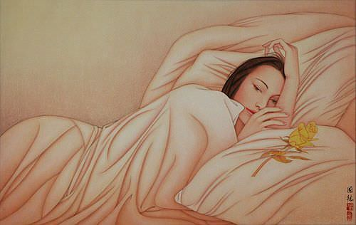 Beautiful Woman - Contemporary Chinese Art Painting