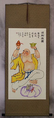 Happy Buddha Wall Scroll