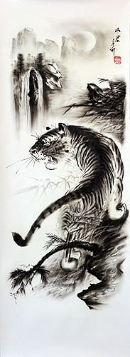 Black & White Tiger Drawing