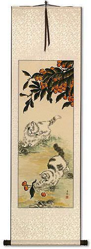 Kittens Wall Scroll