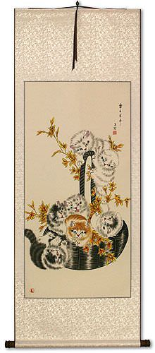 Cats / Kittens - Chinese Wall Scroll