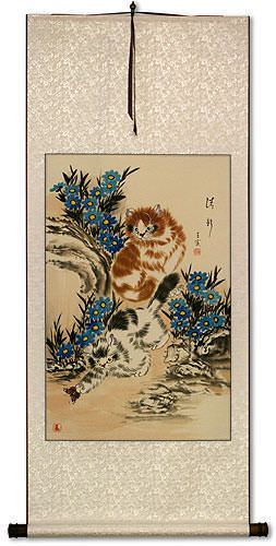 New and Fresh Kittens Wall Scroll