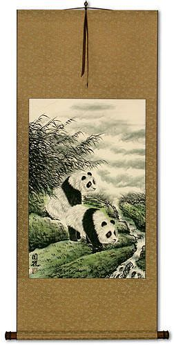 Blemished Panda Wall Scroll