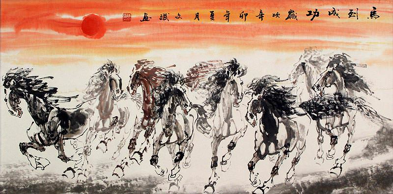 Large Horses of China Painting
