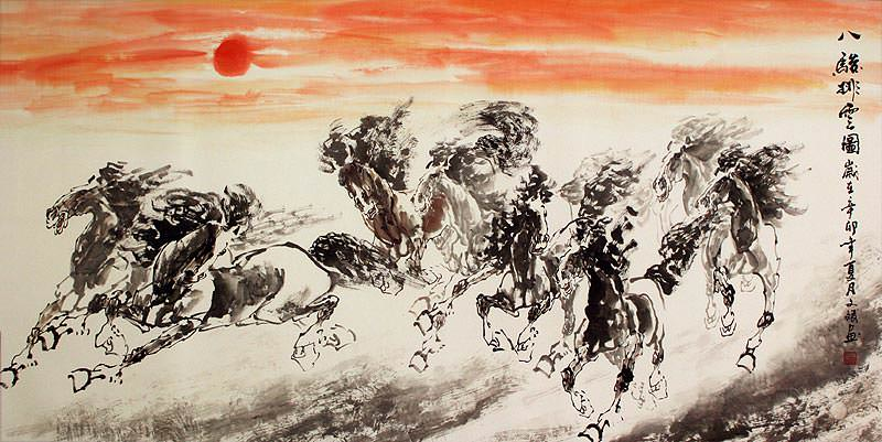Huge Chinese Horse Painting