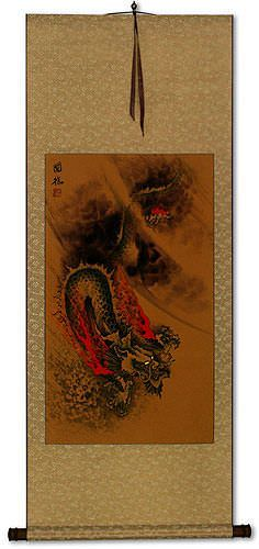 Mystic Chinese Dragon - Asian Wall Scroll