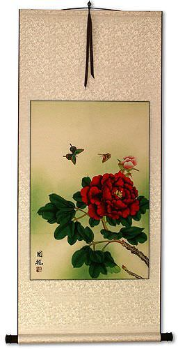 Butterflies and Flowers - Wall Scroll