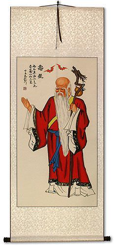Longevity God Wall Scroll