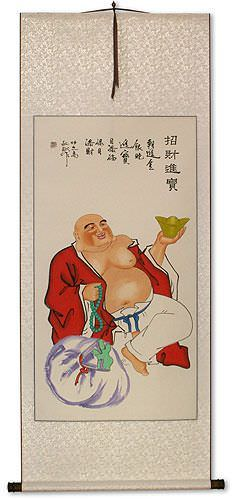Happy Buddha's Big Belly Wall Scroll