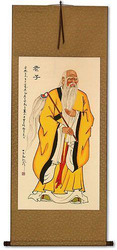 Ancient Lao Tzu Philosopher Wall Scroll
