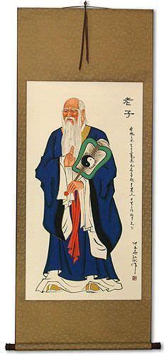 The Wise Lao Tzu / Laozi Wall Scroll