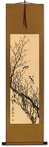 Spring Rhythm - Birds and Flowers - Wall Scroll