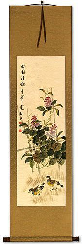 Everyday is Fun at the Ranch - Chinese Art Wall Scroll
