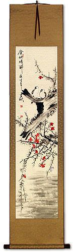 The Golden Autumn - Chinese Bird and Flower Wall Scroll