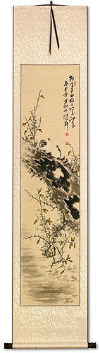 Being Together - Birds and Flower - Wall Scroll