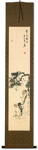 Philosopher and Servant Boy Wall Scroll