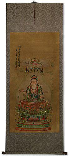 Guanyin / Kuan Yin / Kannon - Partial-Print - Large Wall Scroll