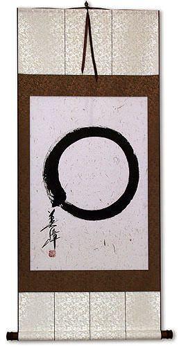 Large Enso Japanese Symbol - Large Wall Scroll