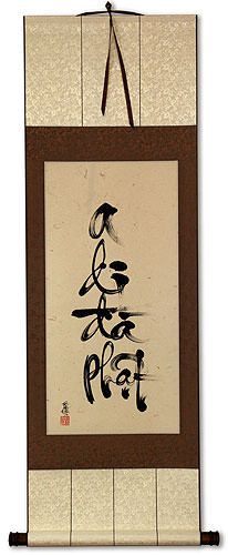Amitabha Buddha Vietnamese Calligraphy Wall Scroll