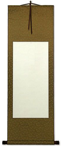 Blank White/Copper Asian Wall Scroll
