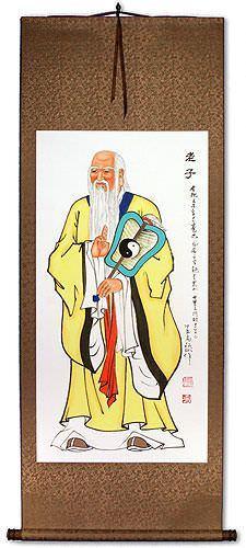 Wise Laozi / Lao Tzu Wall Scroll