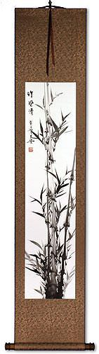 Delicate Bamboo Wall Scroll