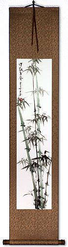 Safe and Sound - Bamboo Wall Scroll