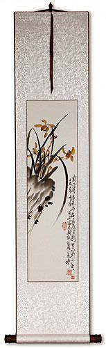 Orchid - Purist of Flowers - Chinese Wall Scroll