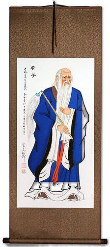 Old Wise Lao Tzu / Laozi Wall Scroll