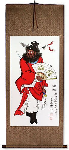 Zhong Kui Ghost Warrior - Wall Scroll
