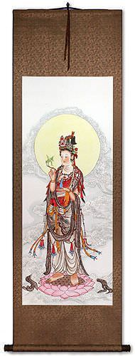 Guanyin Buddha Wall Scroll