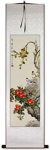 Scent of Flowers and Bird Song Wall Scroll