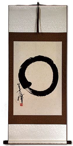 Large Enso Japanese Calligraphy - Big Wall Scroll