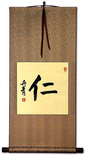 Benevolence / Mercy - Chinese Character Wall Scroll