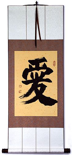 LOVE - Chinese / Japanese Kanji Wall Scroll
