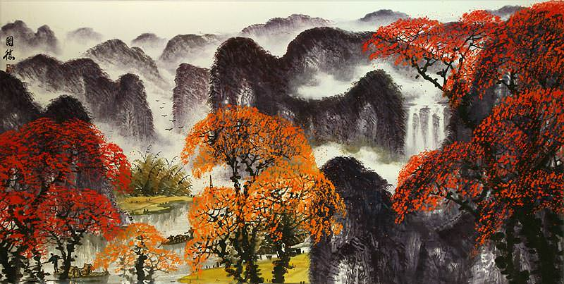 Huge Li River Landscape Painting