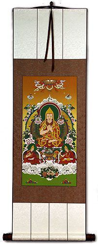 Tibetan Buddha Print - Wall Scroll