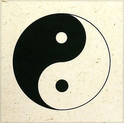 "See how ""Yin Yang Symbol - Chinese Philosophy Print"" would look after being professionally framed"