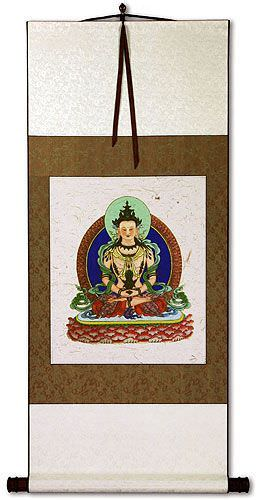 Buddha Deity Print - Wall Scroll