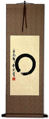 Enso Japanese Calligraphy - Wall Scroll