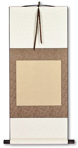 Blank Tan/Copper/Ivory Wall Scroll