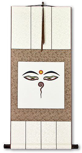 Eyes of the Buddha Print Wall Scroll