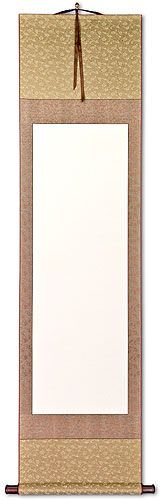 Blank Beige/Copper/Gold Wall Scroll