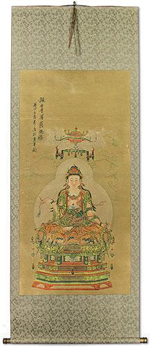 Guanyin / Kuan Yin / Kannon - Partial-Print - Large Wall Scroll