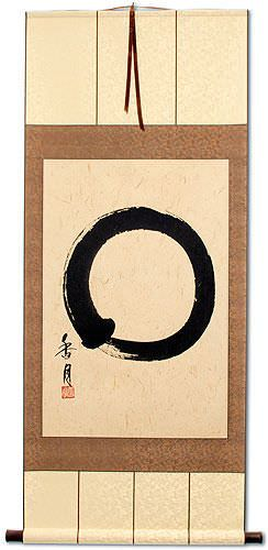 Large Enso Japanese Symbol - Large Wall Scroll