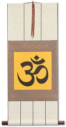 Om Symbol - Hindu / Buddhist Unryu Wall Scroll