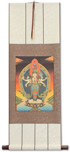 Buddha Altar Print - Wall Scroll
