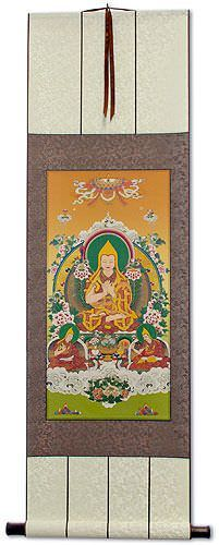 Tibetan Buddha Print - Wall Scroll