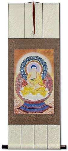 Buddhist Altar Print - Buddha Repro - Wall Scroll