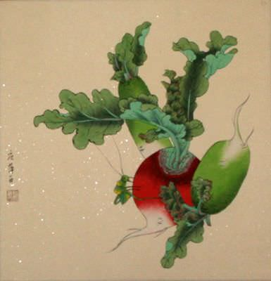 "See how ""Chinese Radish Art Painting"" would look after being professionally framed"